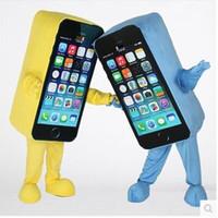 telefon kırdı toptan satış-Yeni Sıcak satış Telefonu Maskot Kostüm Cep Telefonu Apple Kırık / Iyi Ekranlı Telefon Maskot Yetişkin Boyutu