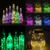 Wholesale string lantern fairy lights resale online - wedding favors Solar Wine Bottle Cork Shaped String Light LED Night Fairy Light Lamp Gift