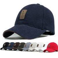 Wholesale Snapback Simple - 2016 Summer & Autumn Cotton Baseball Caps For Men Outdoor Sports Snapback Mens Hats Casual Simple Solid Ball Caps Free Shipping
