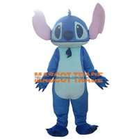 Wholesale Export High Quality Big Ear Blue Monster Costumes Stitch Mascot Costumes
