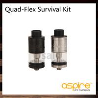 Wholesale Flex Styles - Aspire Quad-Flex Survival Kit Innovative 4-in-1 tank Nautilus X tank, RTA, RDA and Squonk style RDA 100% Original