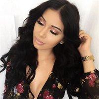 Wholesale grade 7a peruvian wavy wigs resale online - 7A Grade Glueless Full Lace Human Hair Wigs Wavy Density Lace Front Wigs For Black Women Human Hair Wig