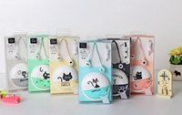 Wholesale Cell Phone Storage Boxes - Cartoon Earphones 3.5mm In-Ear Headphones with MIC Storage Box Cute Cat Earphones for Phone MP3 MP4 Player