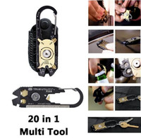 Wholesale E Emergency - E-36 20 in 1 pocket Tool Outdoor EDC KeychainTrue Utility By Nebo Travel Kit TU200US FIXR Self-help emergency rescue tools Opener Wrench