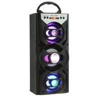 smartphone-dock großhandel-Großhandels-Redmaine tragbarer LED Blacklight Bluetooth Lautsprecher Lautsprecher HiFi Super Bass FM Radio TF Karte, die AUX für Smartphone spielt