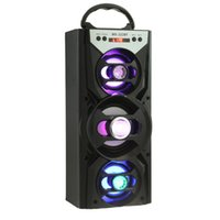 Wholesale Redmaine Portable LED Blacklight Bluetooth Speaker Loudspeaker HiFi Super Bass FM Radio TF Card Playing AUX for Smartphone