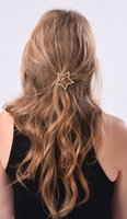 Wholesale Heart Ornaments Wholesale - 2017 new brand hairpin star jewelry Korean star heart hair ornaments female hair accessories wholesale free shipping