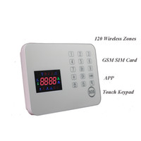 Wholesale Security Products Alarm - 120 Zones touch screen house burglar wireless system security alarm keypad door intruder sensor best products for personal security
