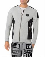 Wholesale Mens New Jacket Style - New arrive Tide brand Hip Hop Mens Hoodie Sporty Style Slim Fit Men Casual Hoodie Jacket P6167