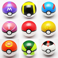 Wholesale Anime Props - 9 Style ABS Action Anime Figures 7cm pikachu figure PokeBall Fairy Ball Super Ball poke Ball Kids Toys Gift Free Shipping A-0366