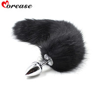 Wholesale Sexy Anus - Sexy Toys Metal Fake Fur Fox Dog Tail Anal Plug Butt Plug BDSM Flirt Anus Plug For Women Adult Games Product For Couples
