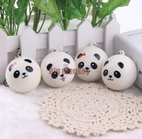 Wholesale Big Free Cell - 40pcs Lot, 4CM PU 4 STYLES Kawaii Mini Panda Couple Squishy Cell Phone Charm Free Shipping