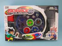 mücadele üstleri toptan satış-Beyblade Arena Topaç Metal Fight Beyblad Toupie Fight Beyblade Set Metal Fusion Çocuk Hediyeler Klasik Oyuncaklar Pegasus Wj086