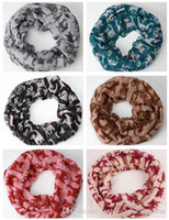 Wholesale Cheap Chevron - 100pcs Fashion cheap Chevron Wave Print Scarf Circle Loop Infinity Scarves Women Pattern Multi color printing Voile Stripe Ring F404