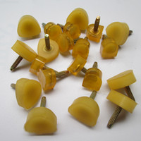 Wholesale Shoe Repair Wholesalers - 10 pairs Yellow Anti Slip High Heel Shoes Dowel Stiletto Repair Replacement Tips Taps Pins Lifts Heel Protector feet care tool