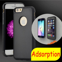 Wholesale Green Wall Coverings - For iphoneX Anti-gravity Case Hybrid Magical Nano Stick On The Wall PC+TPU Cover Case For iPhone8 7 6splus 5S samsung S6 S7edge S8plus