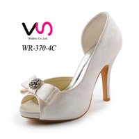 Wholesale Cheap Custom High Heels - Cheap Nice Satin delicate style Wedding Shoes Custom Made 10 cm High Heel Bridal Shoes Party Prom Women Shoes Free Shipping