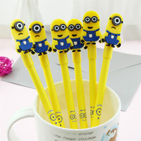 Wholesale Despicable Note - Cute Minions Despicable Me Pen Cartoon Writing Gel Pen For Children Kids Toy School Office Stationer