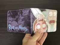 Wholesale National Pvc - Rick And Morty Cartoon Short Wallet Purse Money Cards Slim Leather Wallets ID Holders Gift for Kids Boys Girls