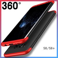 Wholesale Pocket Parts - For iphone 7plus Phone Case three-part protective shell For samsung S8 Galaxy S8plus 6 6splus covers three-in-one protective case