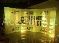 Wholesale x6x2 m new style hot sale excellent inflatable photo wall with free air blower