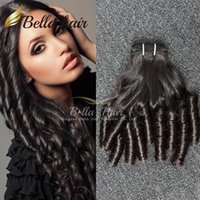 Wholesale wavy hair curling for sale - Group buy 7A Brazilian Hair Funmi Hair Black Color Loose Wave Wavy Bouncy Spring Curl Hair Extensions Bella Hair Factory