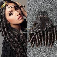 Wholesale hair bouncy loose curls - 7A Brazilian Hair Funmi Hair Black Color Loose Wave Wavy Bouncy Spring Curl Hair Extensions 3pcs lot Free Shipping Bella Hair Factory