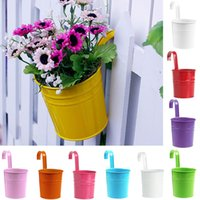 Wholesale Metal Automatic Feeder - Fashion Metal Iron Flower Pot Hanging Balcony Garden Plant Planter Home Decor