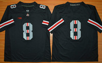 Wholesale Football Gear Men - Ohio State 8th Championship Stitched 2015 New Blackout Gear Eight Buckeyes Men College Football Jerseys Size S-XXL