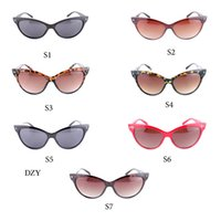 Wholesale Prism Sun - Glasses sun 2016 Discoloration cat eye no prism glasses Women Fashion Sun Glass Full frame adumbral protection glasses