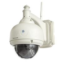 ip kamera kuppel wifi pfanne großhandel-Sricam SP015 720P PT IP-Kamera 1.0M H.264 Dome Wasserdichte Wifi IR-CUT 15m IR-Reichweite Pan Tilt Wireless P2P IP-Kamera