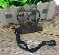 Wholesale Handcuff Collar - 2016 self-defense boxing glove handcuffs Duron drill collar joint Tekken self-defense Ring