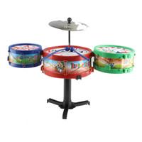 jouets musicaux en plastique achat en gros de-Ventes chaudes Enfants Instruments de Musique Jouet Enfants Drum Kit Set Tambour En Plastique Coloré