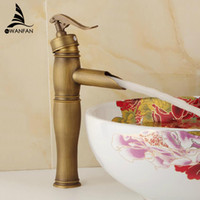 Wholesale Sink Taps Retro - Free Shopping Retro Bathroom Sink Faucet Bath Toilet Antique Brass Finishing Basin Faucet Single Handle Wash Basin Taps ZLY-6616
