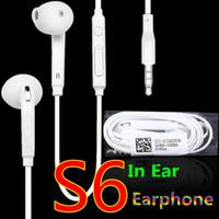 iphone kulaklıklar mikrofon ses kontrolü toptan satış-Samsung S6 S6 kenar Için kulaklık Kulaklık kulaklık Kulakiçi iPhone 5 6 s Için Mic Ile Kulak Kontrolü Kulaklık Ses Kontrolü