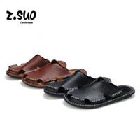 Wholesale Cheap Wedges Heels - Cheap Summer Men's Flip Flops Fashion Men Slippers Slip On Sandals Platform Male Shoes Casual Beach Mens Slipper Wedges Genuine Leather Flat