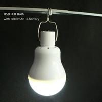 ingrosso lampadina principale ricaricabile-La lampadina ricaricabile portatile di USB LED che si accampa all'aperto luce eccellente IP54 luminoso che carica il CE 6500K di RoHS RoHS Trasporto libero del DHL all'ingrosso