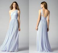 Wholesale Elegant Wedding One Shoulder - Bridesmaid Dresses Long Formal Dress One-shoulder Neck Chiffon Dress For Wedding Elegant Guest Dress Modern Style Custom Quality