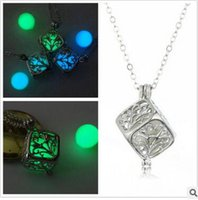 Wholesale Steampunk Lockets - Steampunk Pretty Magic Round Fairy Locket Glow In The Dark Pendant Necklace Gift Glowing Luminous Vintage Necklaces