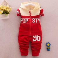 Wholesale Sport Wear Kids Girls - baby boys and girls clothing sets 2016 spring and autumn children's wear cotton casual tracksuits kids clothes sports suit hot.
