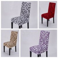 Wholesale Wholesale Dining Room Chair Covers - 4 Colors Elastic Force Chair Cover Slipcovers Dining Room Wedding Party Banquet Short Chair Covers Home Textiles Chair Covers CCA7172 30pcs
