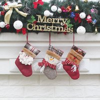 Wholesale Wholesale Party Supplies Direct - Direct Selling Christmas Socks Gift Bag Christmas Tree Ornament Exquisite Decoration Pendant The old man Snowman Elk 3 styles DHL 010101