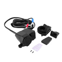 Wholesale usb cigarette adaptor - Universal All in ONE 12v 2.1A Waterproof Motorbike Motorcycle 5V USB Power Port Cigarette Lighter Adaptor Integration Outlet Socket Charger