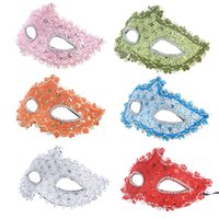 Wholesale Sexy Mask For Carnival - New Halloween Masquerade Crystal Rhinestones Decor venetian carnival Mask For Party Dress Party Mask Sexy Lace Mask Free Shipping from Bassy