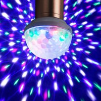 Barato Pequena Luz Usb-2017 USB Voice Flash KTV MiNi LED Pequeno Magic Ball Controle de Voz Girando Colorido KTV Flash Stage Light para Q7 microfone celular