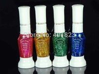 Wholesale Nail Art Striper Polish - Art Polish Canetinhas Glitter Art Striper 24pcs lot 2-Way color pen brush Nail Polish set coloridas