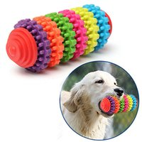 Wholesale Halloween Pet Toys - Teeth Gums Chew Gear Toy Colorful Pet Dog Puppy Dental Teething Toy Healthy Non-Toxic Pet Puppy Dog Squeak Rubber Ball Dog Toys