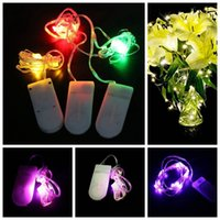 Wholesale Wedding Decor Purple Silver - CR2032 Battery Operated 2M 20LED Micro Waterproof Silver Copper Wire LED Fairy String Light Wedding Christmas Decor