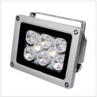 High Lighting Imperméable à l'eau 50m DC 12V 2A illuminateur de remplissage d'aide Vision nocturne infrarouge 8 LED IR Lights for CCTV Security Camera
