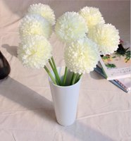 Wholesale Silk Wedding Flower Balls White - Green ball onion Artificial Hydrangea Flower small green onion ball home decoration flowers New arrival SP016